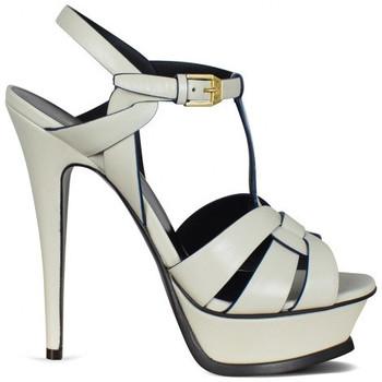 Schuhe Mädchen Sandalen / Sandaletten Saint Laurent  Weiss
