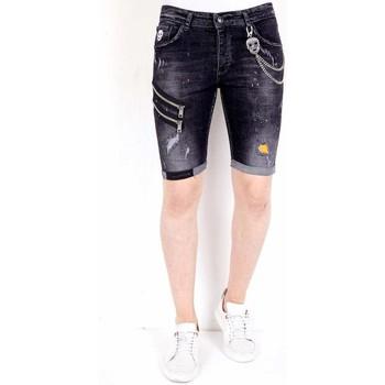 Kleidung Herren Shorts / Bermudas Local Fanatic Kurze Hosen Mit Farbspritzer Schwarz
