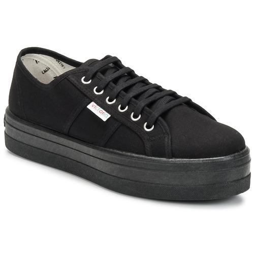 Victoria BLUCHER LONA PLATAFORMA Schwarz  Schuhe Sneaker Low Damen 45