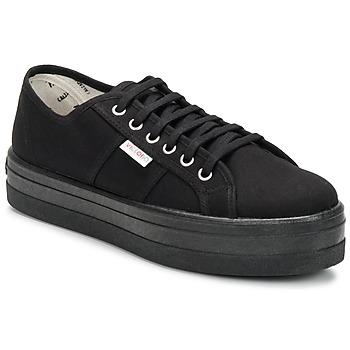 Sneaker Victoria BLUCHER LONA PLATAFORMA Schwarz 350x350