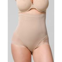 Unterwäsche Damen Shapewears Luna Schlankheits-Slip mit hoher Taille aus Mesh 39 cm Sculpt Pflaume