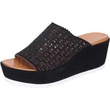 Schuhe Damen Pantoffel Femme Plus BJ890 Schwarz