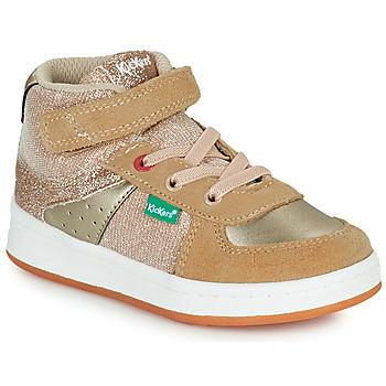 Schuhe Mädchen Sneaker High Kickers BILBON MID Beige