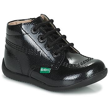 Schuhe Mädchen Boots Kickers BILLISTA ZIP Schwarz