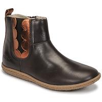 Schuhe Mädchen Boots Kickers VETUDI Braun