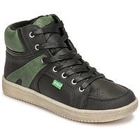 Schuhe Jungen Sneaker High Kickers LOWELL Schwarz / Grün