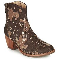 Schuhe Damen Low Boots Neosens MUNSON Braun / Gold