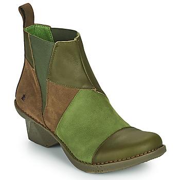 Schuhe Damen Low Boots Art OTEIZA Kaki