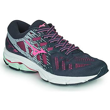 Schuhe Damen Laufschuhe Mizuno WAVE ULTIMA 11 Blau / Rose