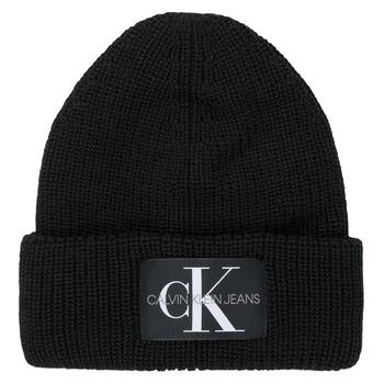 Accessoires Damen Mütze Calvin Klein Jeans MONOGRAM BEANIE WL Schwarz