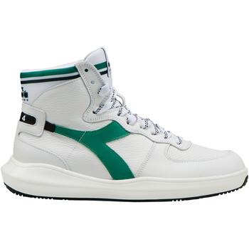 Schuhe Herren Sneaker High Diadora MI Basket H Leather MDS Weiss
