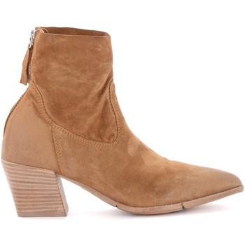 Schuhe Damen Low Boots Moma Stiefeletten in Rauleder Braun Braun