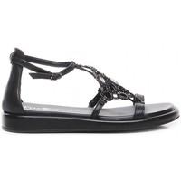 Schuhe Damen Sandalen / Sandaletten Now 6785 Schwarz