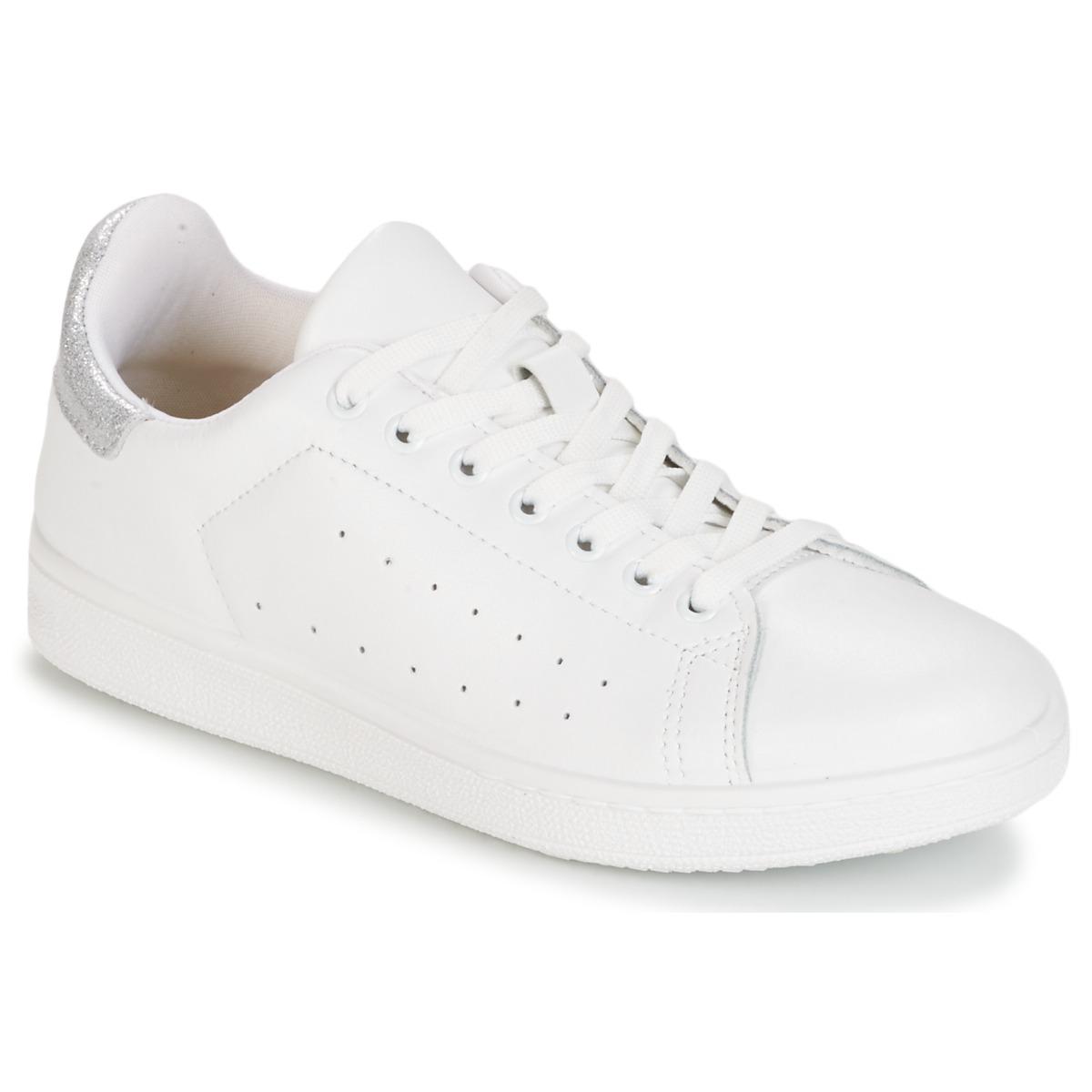 Yurban SATURNA Weiss / Silbern - Kostenloser Versand bei Spartoode ! - Schuhe Sneaker Low Damen 43,99 €