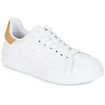 Schuhe Damen Sneaker Low Yurban SATURNA Weiss / Goldfarben