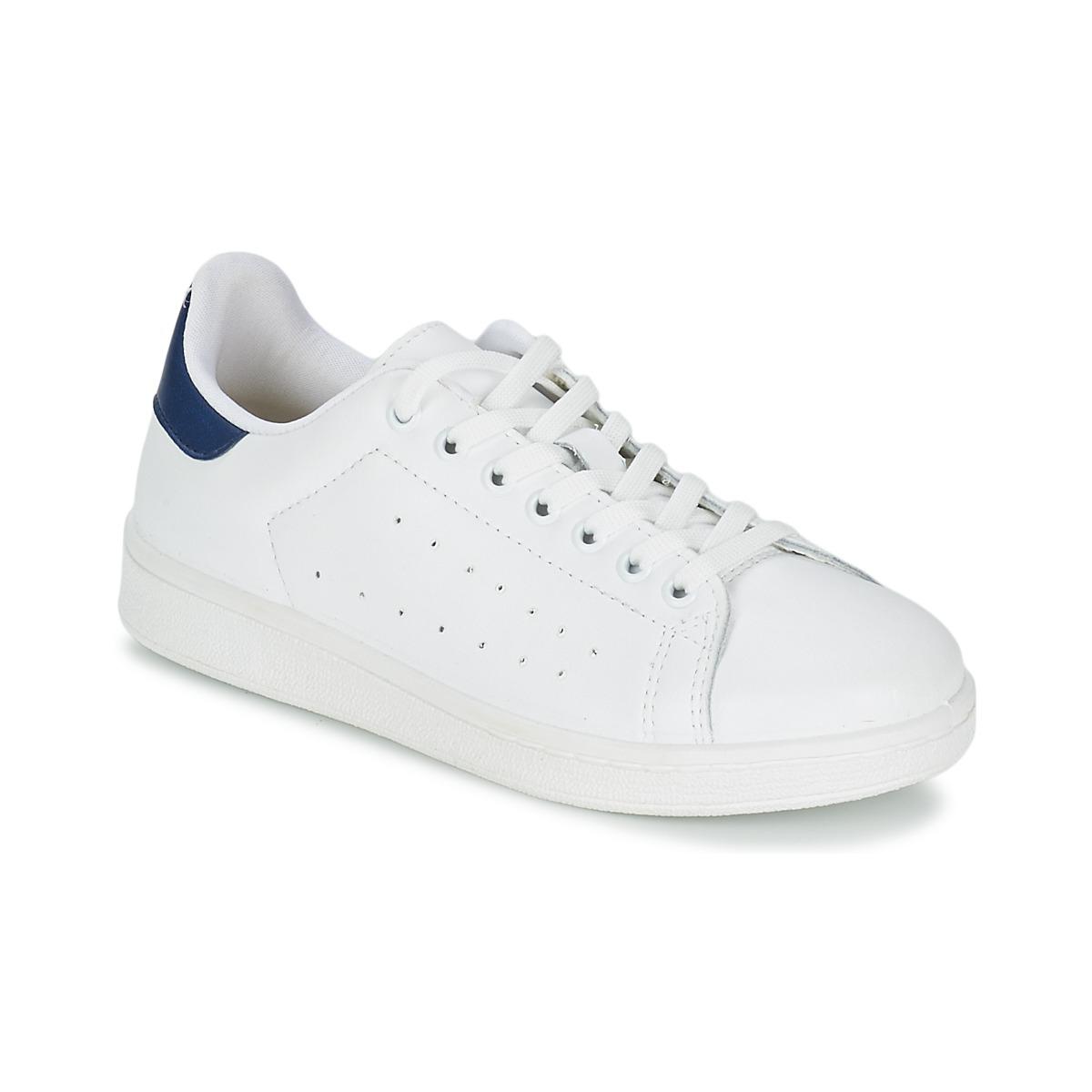 Yurban SATURNA Weiss / Marine - Kostenloser Versand bei Spartoode ! - Schuhe Sneaker Low Herren 51,99 €