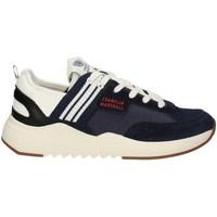 Schuhe Herren Sneaker Low Franklin & Marshall FFIE0020T niedrig Harren MARINE WEISS MARINE WEISS