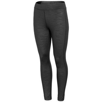Kleidung Damen Leggings 4F LEG016 Schwarz