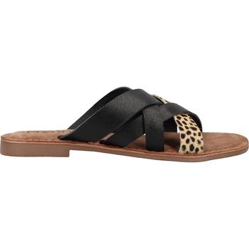 Schuhe Damen Pantoffel Lazamani Pantoletten Braun/Beige