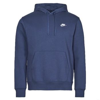 Kleidung Herren Sweatshirts Nike NIKE SPORTSWEAR CLUB FLEECE Marine / Weiss