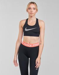 Kleidung Damen Sport BHs Nike W NK DF SWSH ICNCLSH GX BRA Schwarz / Weiss