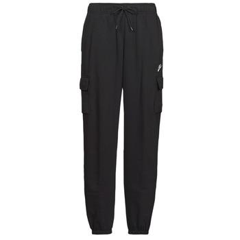 Kleidung Damen Jogginghosen Nike W NSW ESSNTL FLC MR CRGO PNT Schwarz / Weiss