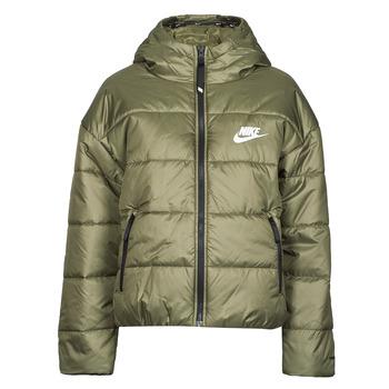 Kleidung Damen Daunenjacken Nike W NSW TF RPL CLASSIC HD JKT Kaki / Weiss