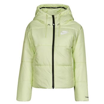 Kleidung Damen Daunenjacken Nike W NSW TF RPL CLASSIC TAPE JKT Grün / Schwarz / Weiss