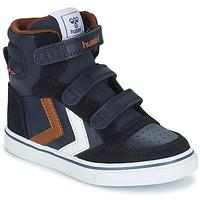 Schuhe Kinder Sneaker High Hummel STADIL PRO JR Blau / Braun