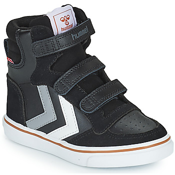 Schuhe Kinder Sneaker High Hummel STADIL PRO JR Schwarz / Grau