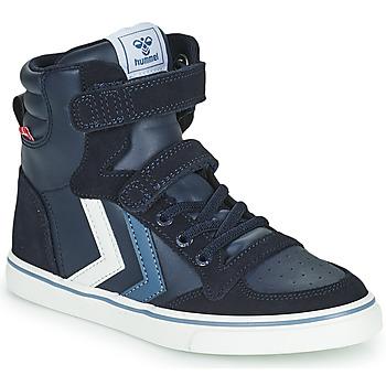 Schuhe Kinder Sneaker High Hummel SLIMMER STADIL JR Blau