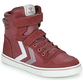 Schuhe Mädchen Sneaker High Hummel SLIMMER STADIL JR Violett