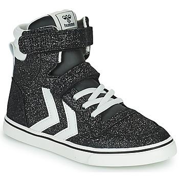 Schuhe Kinder Sneaker High Hummel SLIMMER STADIL GLITTER JR Silbern