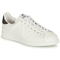 Schuhe Damen Sneaker Low Victoria TENIS PIEL Weiss / Silbern