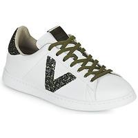 Schuhe Damen Sneaker Low Victoria TENIS PIEL Weiss / Kaki