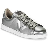 Schuhe Damen Sneaker Low Victoria TENIS METAL Silbern