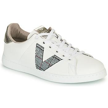 Schuhe Damen Sneaker Low Victoria TENIS PIEL VEGANA Weiss / Grau