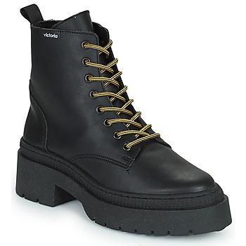 Schuhe Damen Boots Victoria CIELO PIEL VEGANA Schwarz