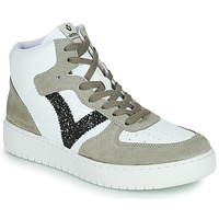 Schuhe Damen Sneaker Low Victoria SIEMPRE BOTIN SERRAJE Weiss / Kaki