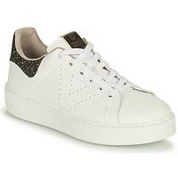 Schuhe Damen Sneaker Low Victoria UTOPIA VEGANA GLITTER Weiss / Schwarz