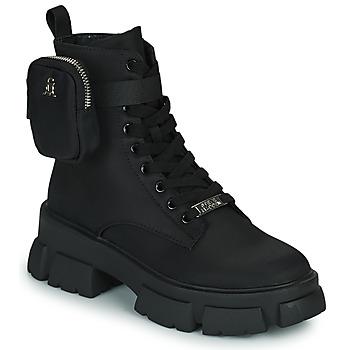 Schuhe Damen Boots Steve Madden TANKER-P Schwarz