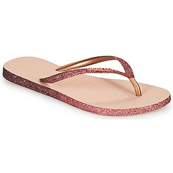 Schuhe Damen Zehensandalen Havaianas SLIM SPARKLE II Rose