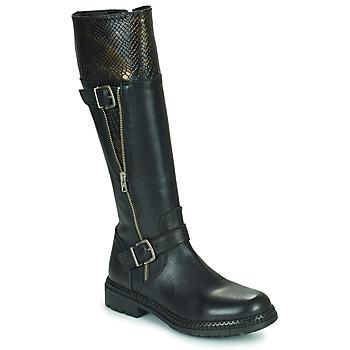 Schuhe Damen Klassische Stiefel Regard CACHY Schwarz