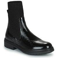 Schuhe Damen Boots Regard CALES Schwarz