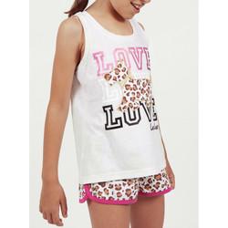 Kleidung Mädchen Pyjamas/ Nachthemden Admas Mädchen Pyjama Shorts Tank Top LouLou Dschungel beige Beige