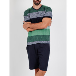 Kleidung Herren Pyjamas/ Nachthemden Admas For Men Pyjama kurzes T-shirt Scratch Antonio Miro grün Admas Dunkelgrün