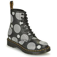 Schuhe Damen Boots Dr Martens 1460 Weiss / Grau