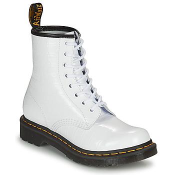 Schuhe Damen Boots Dr Martens 1460 W Weiss