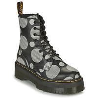 Schuhe Damen Boots Dr Martens JADON Weiss / Grau