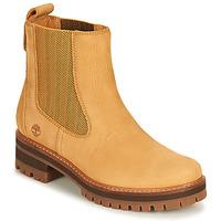 Schuhe Damen Boots Timberland COURMAYEUR VALLEY CHELSEA Rot multi wf sde